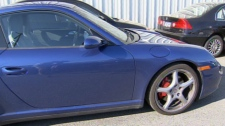 A newer model Porsche was seized from a 17-year-old driver after police say it was used to street race in West Vancouver. Sept. 2, 2011. (CTV)