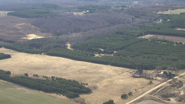 Site of proposed quarry north of Shelburne, Ont.