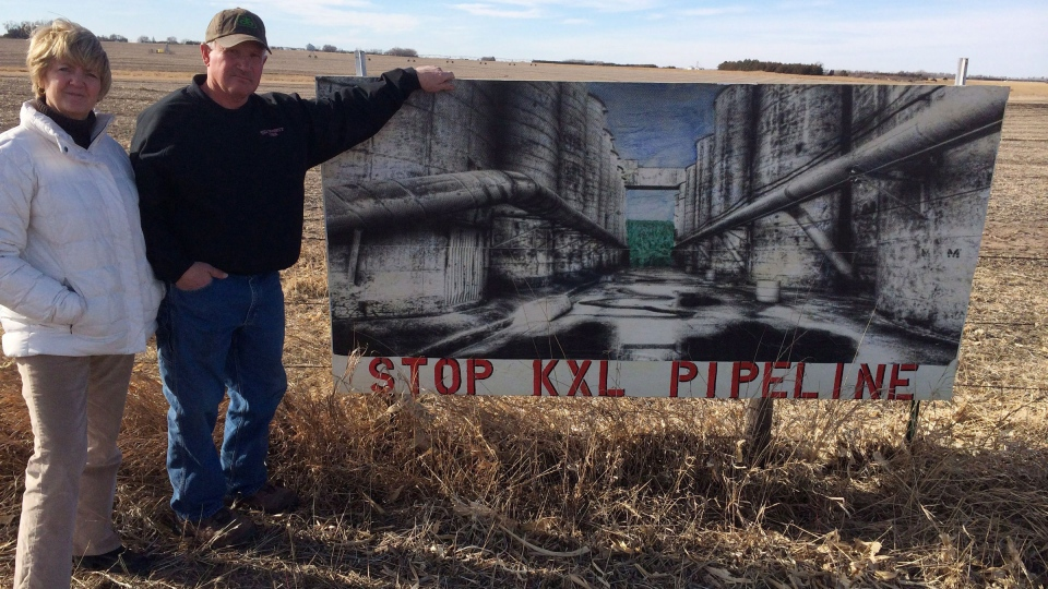 Ron and Jeanne Crumly, seen on their property in Page, Neb., say they have no intention of signing to allow the Keystone XL pipeline on their land - whatever they're offered. (Alex Panetta / THE CANADIAN PRESS)
