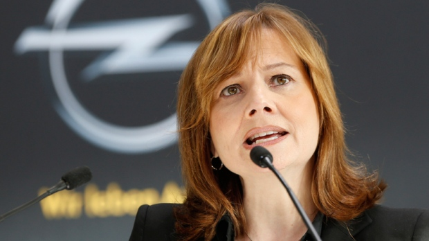 GM CEO Mary Barra in Ruesselsheim