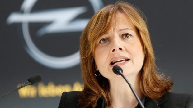 GM CEO Mary Barra in Ruesselsheim