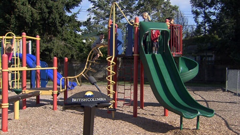 The B.C. government is pledging $8-million in funding to improve school playgrounds. Sept. 2, 2011. (CTV)