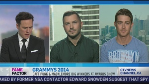 CTV News Channel: Grammys get political