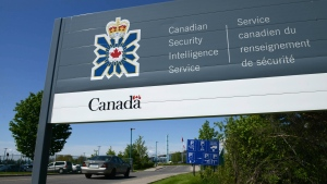 A sign for the Canadian Security Intelligence Service building is shown in Ottawa on Tuesday, May 14, 2013. (The Canadian Press/Sean Kilpatrick)