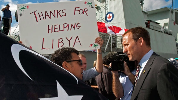 hmcs charlottetown returns from libya