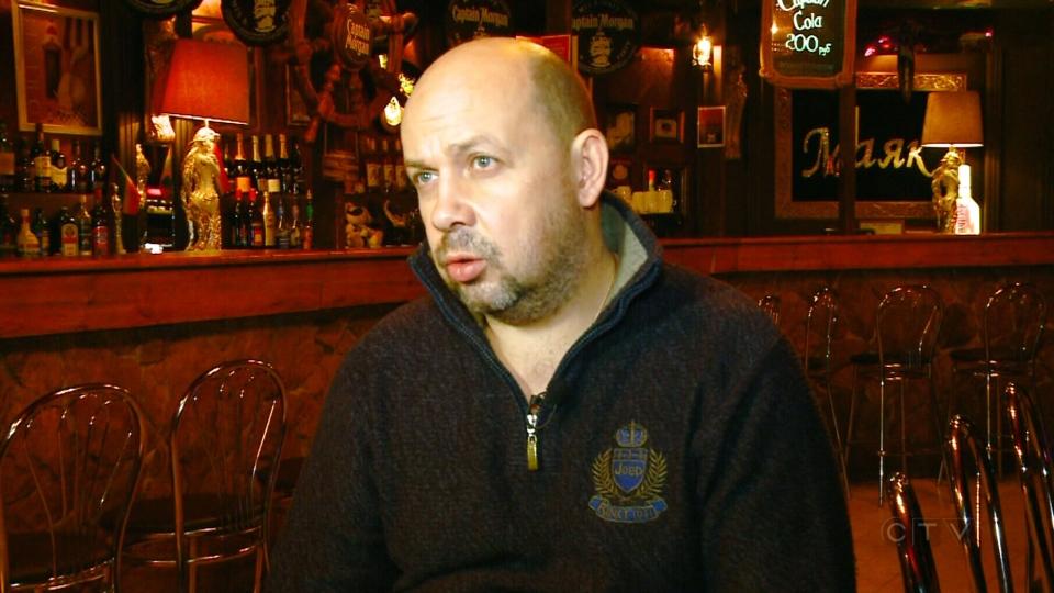 Roman Kachagov, owner of a gay club in Sochi, speaks to CTV News, Monday, Jan. 27, 2014.
