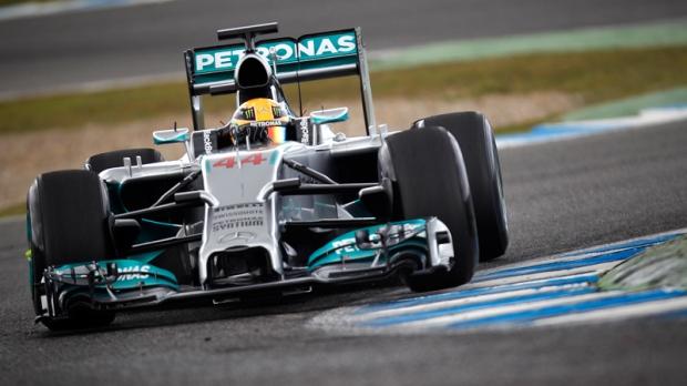 Mercedes' Lewis Hamilton at Circuito de Jerez