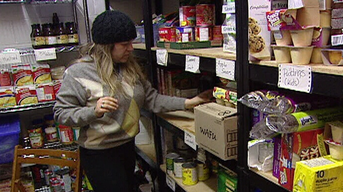 Lesley Johansen at House of Lazarus Food Bank