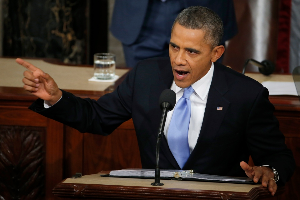 President Barack Obama delivers his State of the Union address on Capitol Hill in Washington, Tuesday Jan. 28, 2014. (AP / Charles Dharapak)