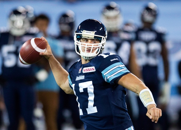 Toronto Argonauts quarterback Zach Collaros