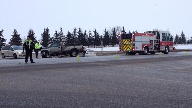 Emergency crews at fatal crash
