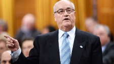 Veterans Affairs Minister Julian Fantino speaks