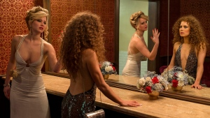 This photo released by Sony Pictures shows Jennifer Lawrence, left, as Rosalyn Rosenfeld, and Amy Adam as Sydney Prosser in Columbia Pictures' 'American Hustle.' (AP / Sony - Columbia Pictures, Francois Duhamel)