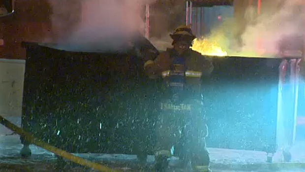 Fire crews worked quickly to put out a fire at a downtown business that broke out early Thursday morning.