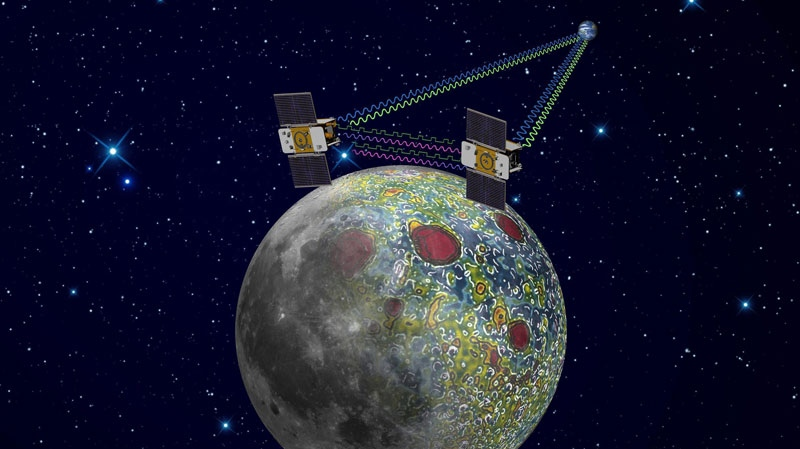 This undated artist's rendering made available by NASA/JPL-Caltech shows the twin Gravity Recovery And Interior Laboratory (GRAIL) spacecraft which will map the moon's gravity field.