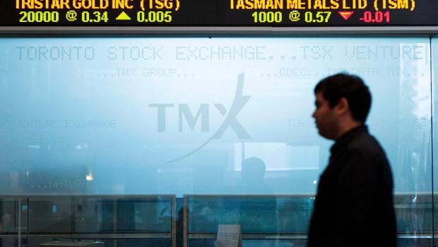 Toronto Stock Exchange Broadcast Centre sign