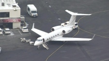 Justin Bieber's private plane in New Jersey
