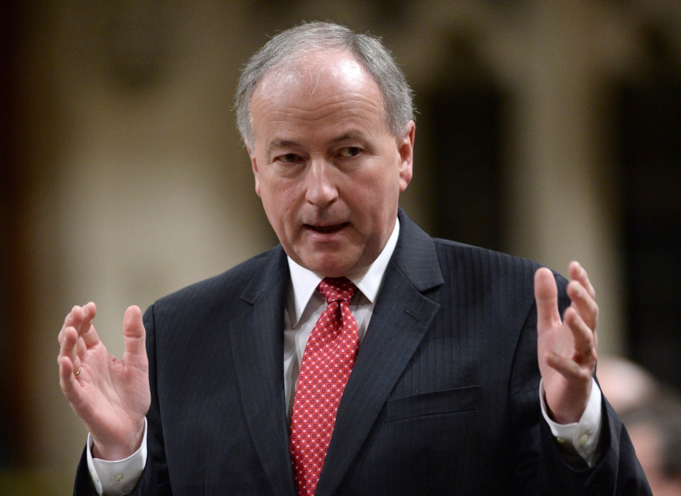Minister of Defence Rob Nicholson responds to a question during question period in the House of Commons on Parliament Hill in Ottawa on Friday, Jan, 31, 2014. (Sean Kilpatrick / THE CANADIAN PRESS)