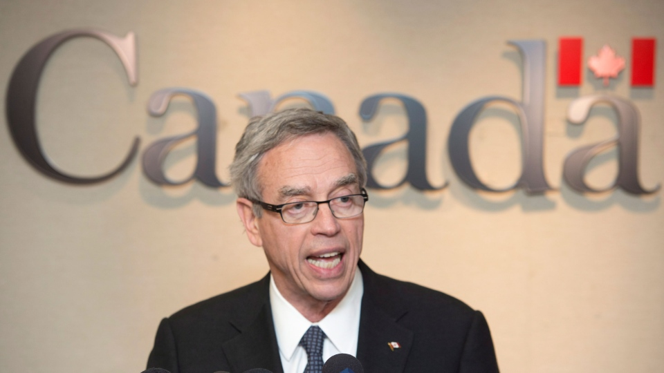Natural Resources Minister Joe Oliver says the government is encouraged by the outcome of the U.S. State Department's final environmental impact study on the Keystone XL pipeline. (Frank Gunn / THE CANADIAN PRESS)