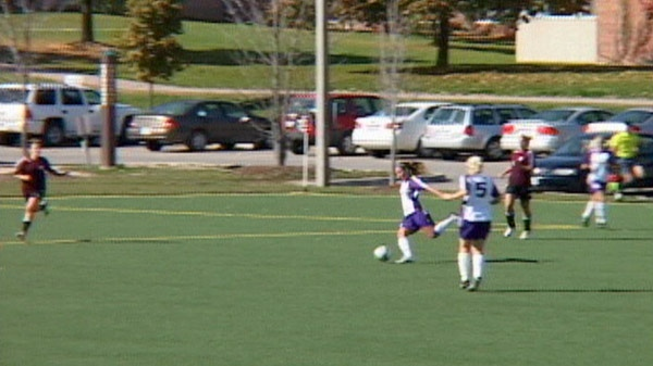 Alyssa Lagonia practices with the Wilfrid Laurier Lady Hawks on Tuesday, Sept. 6, 2011.