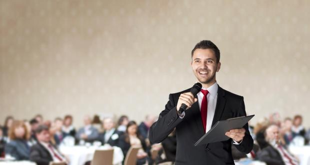 Giving a speech