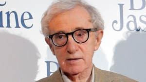Director and actor Woody Allen appears at the French premiere of 'Blue Jasmine,' in Paris, Aug. 27, 2013. (AP / Christophe Ena)