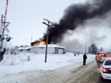 Mount Albert fire station engulfed by flames