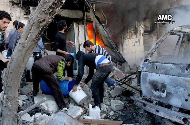 Syrian aircraft hit Aleppo