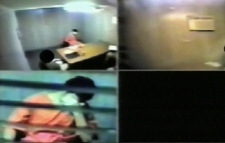 Canadian terror suspect Omar Khadr breaks down and cries in this image taken from CSIS interrogation footage recorded in February 2003.