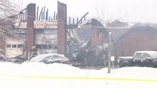 Volunteer fire station destroyed