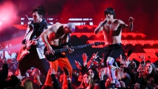 Red Hot Chili Peppers perform at Super Bowl
