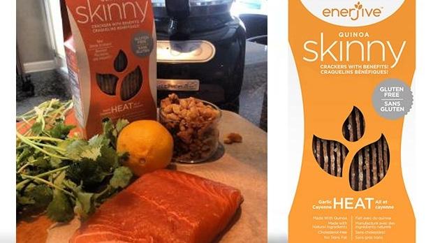 Heat Crusted Salmon, Enerjive, recipe
