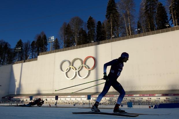 Biathletes train in Sochi