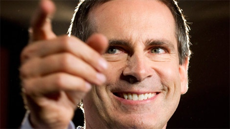 Ontario Premier Dalton McGuinty smiles as he releases the Liberal party platform at an event in Toronto on Monday Sept. 5, 2011. (Frank Gunn / THE CANADIAN PRESS)