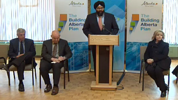The province made the funding announcement in Calgary on Feb. 3, 2014.
