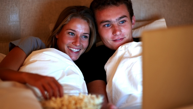 Watching movies as couple