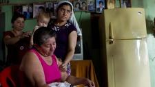 Jose Salvador Alvarenga's mother in El Salvador
