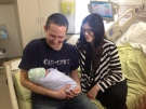 Colin and Sarah Rankin welcomed baby Clark Wilson Ranking into the family in London, Ont. on Tuesday, Feb. 4, 2014. (Cristina Howorun / CTV London)