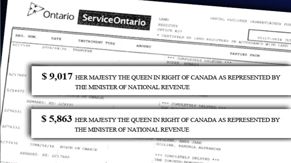 Documents obtained by CTV News show the government placed two liens on property owned by Randy Hillier and his wife.