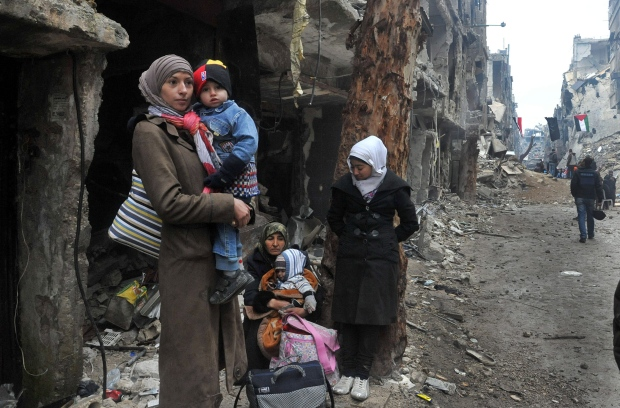 Syrian children suffering
