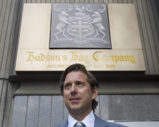 Richard Baker, who becomes the new CEO of Hudson's Bay Co., is seen outside a store in Toronto, on Wednesday July 16, 2008. (Adrian Wyld / THE CANADIAN PRESS)