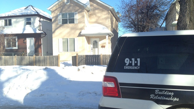 Winnipeg police, shown here on Manitoba Avenue, conducted raids at several locations across the city on Feb. 5, 2014.
