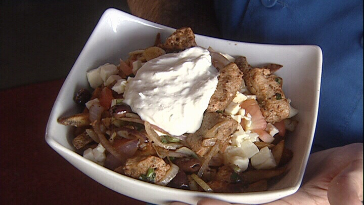 This Greek-style poutine was created by Routine Poutine of Gatineau for La Poutine Week