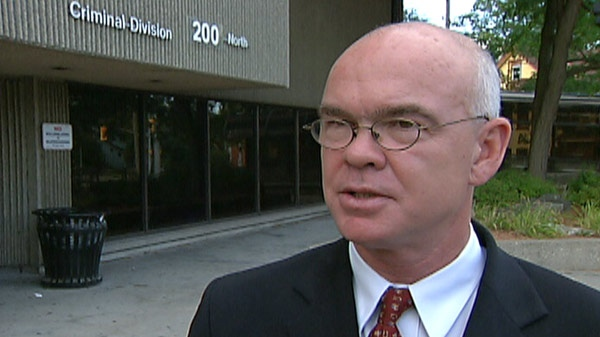 Kitchener lawyer Hal Mattson speaks with CTV News outside the court house in Kitchener, Ont. on Friday, Sept. 9, 2011.