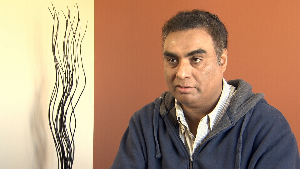 Taxi driver Rashid Ahmad says he still doesn't know why a plainclothes RCMP officer opened fire on his taxi cab in a White Rock street last week. Feb. 5, 2014. (CTV)