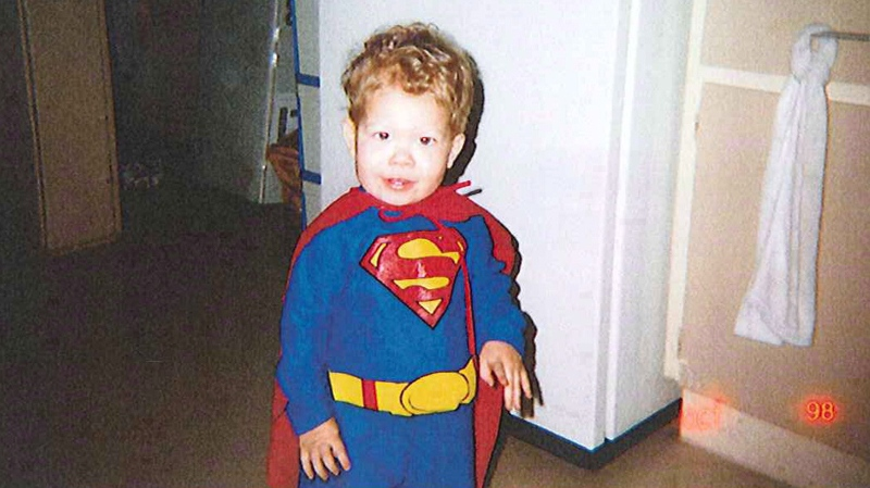 Jeffrey Baldwin is shown in a Halloween costume in this undated handout photo released at the inquest into his death. (Office of the Chief Coroner for Ontario)
