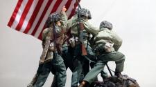 G.I. Joe figures Raising the Flag on Iwo Jima
