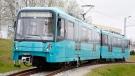 A Frankfurt Transport Authority Bombardier Swift high-floor light rail vehicles are shown in this photo released by Bombardier on Thursday Dec. 15, 2011. (THE CANADIAN PRESS/HO, Bombardier)