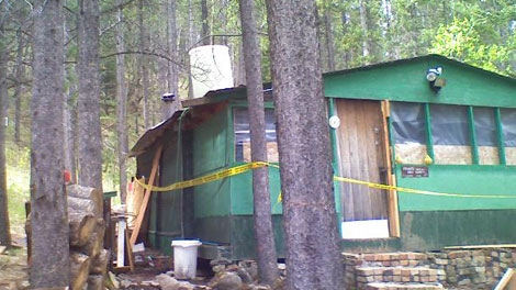 The Alberta cabin where Randall Hopley was found after squatting for months is shown in this file photo. (CTV)