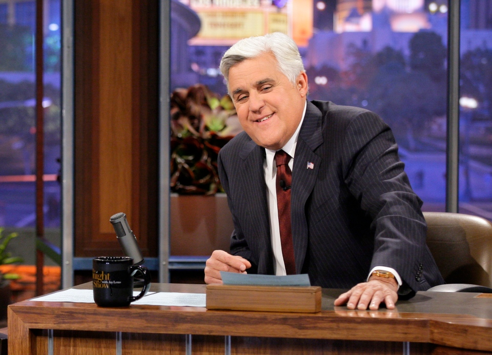 Jay Leno, host of 'The Tonight Show with Jay Leno,' on the set in Burbank, Calif.